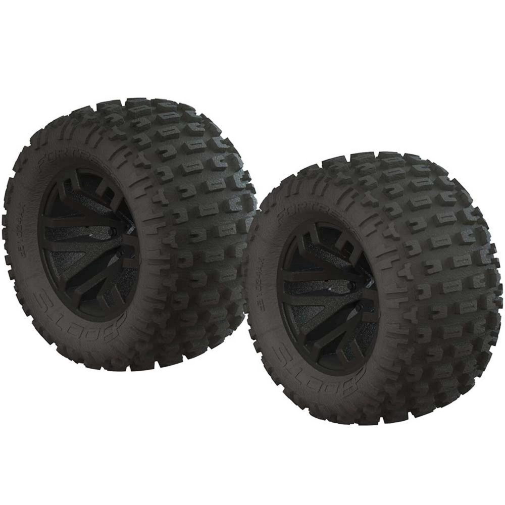 Arrma 1/10 dBoots Fortress MT 2.2/3.0 Pre-Mounted Tires,