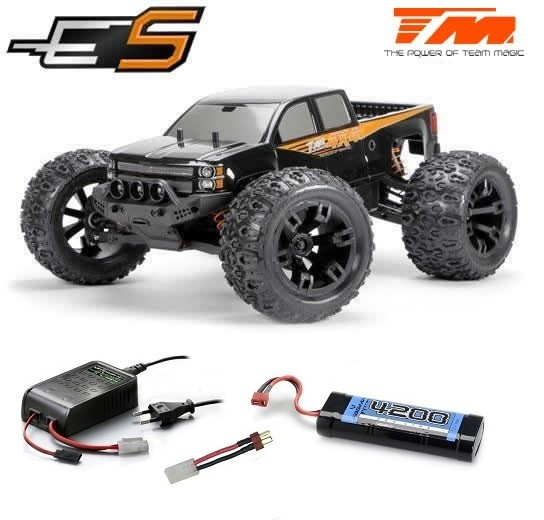 Team Magic E5 4WD Monster Truck Schwarz Brushed 2.4GHz
