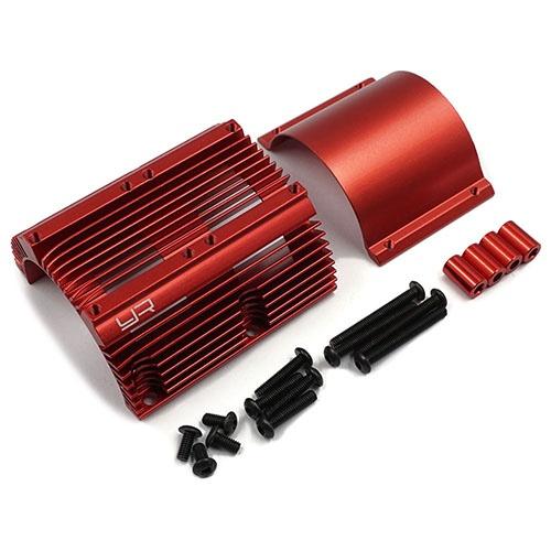 Yeah Racing Aluminium Heat Sink for 1:8 Motors Red