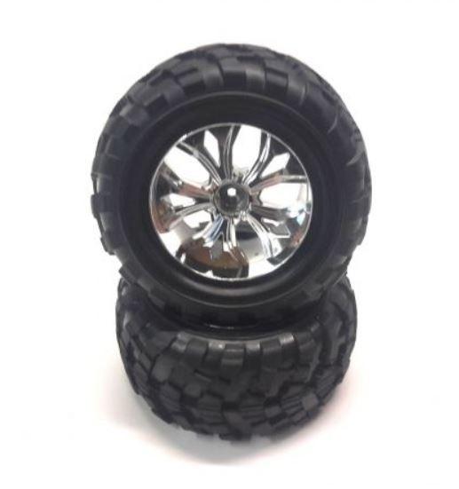 DF-Models Reifen/Felgen chrom zu 3021/3031 (2)