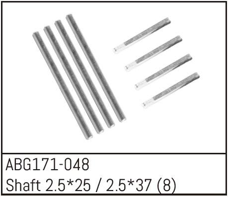 Absima Shaft Set - 2.5*25 (4) /2.5*37 (4)
