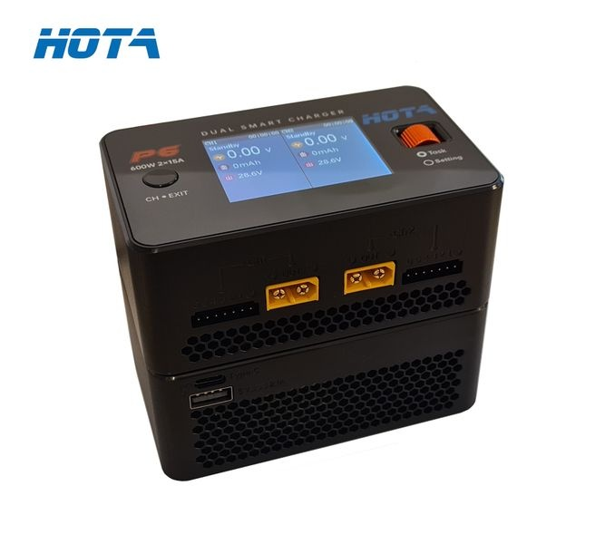 HOTA P6 Dual Smart Charger DC 2 x 300W 15A LCD Farbdisplay