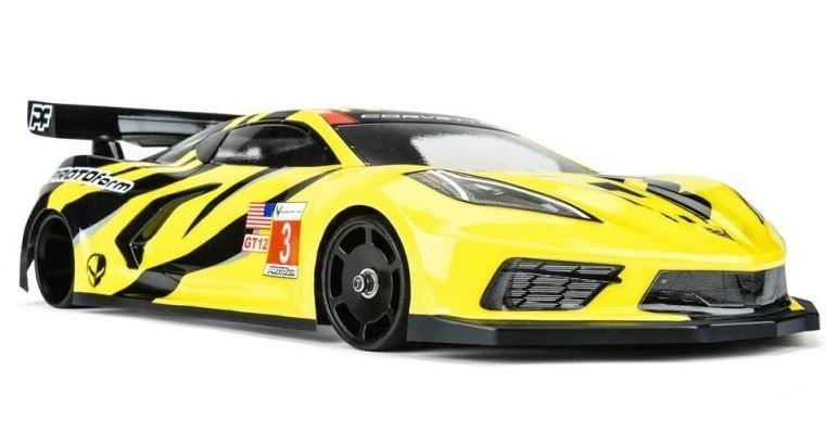 Pro Line PROTOform Chevrolet Corvette C8 Karo klar für GT12