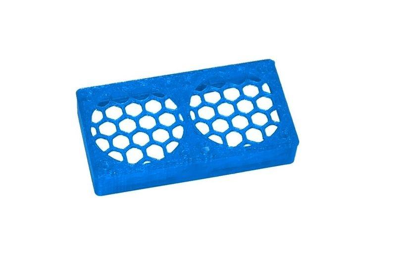 JS-Parts ultraflex Lüftergitter 2x30x10 geschlossen blau