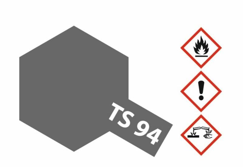 Tamiya Acryl-Sprühfarbe TS-94 Metallic Grau glänzend 100ml
