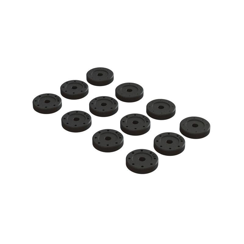 Arrma Shock Piston Set: 1.4mm (8), 1.5mm (8), Blank (4)