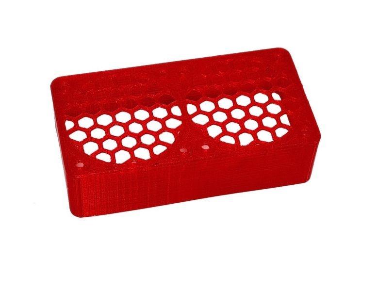 JS-Parts ultraflex Lüftergitter 2x40x20 geschlossen rot