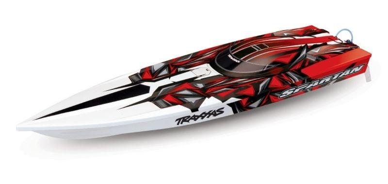 TRAXXAS SPARTAN red-X ohne Akku/Lader BL-Renn-Boot Brushless