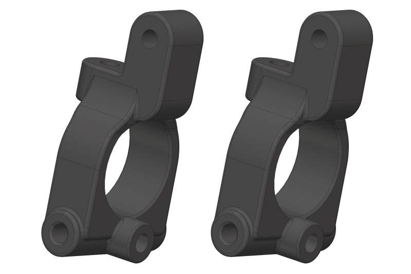 Team Corally Caster Blocks - Composite - 2pcs