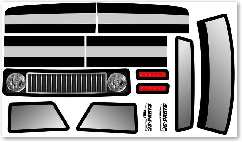 JS-Parts SE Karosserie-Decals für Probodyrc Body und