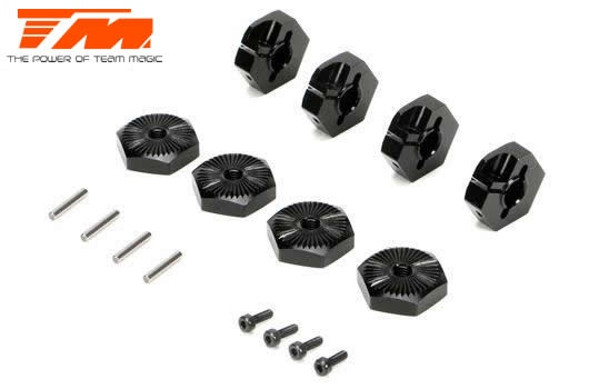 Team Magic E5 - Radmitnehmer klemmend Hex 17mm - Black (4)