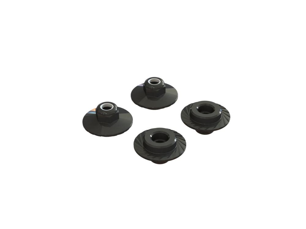 ARRMA FLANGED LOCK NUT M5X8mm (4PCS) AR708007