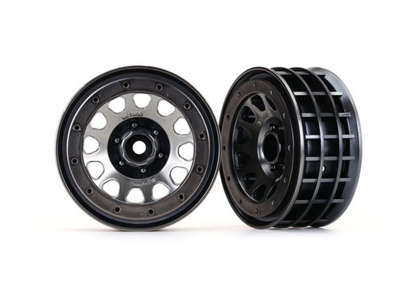 Traxxas Felgen Method 105 2.2(black chrome, beadlock)