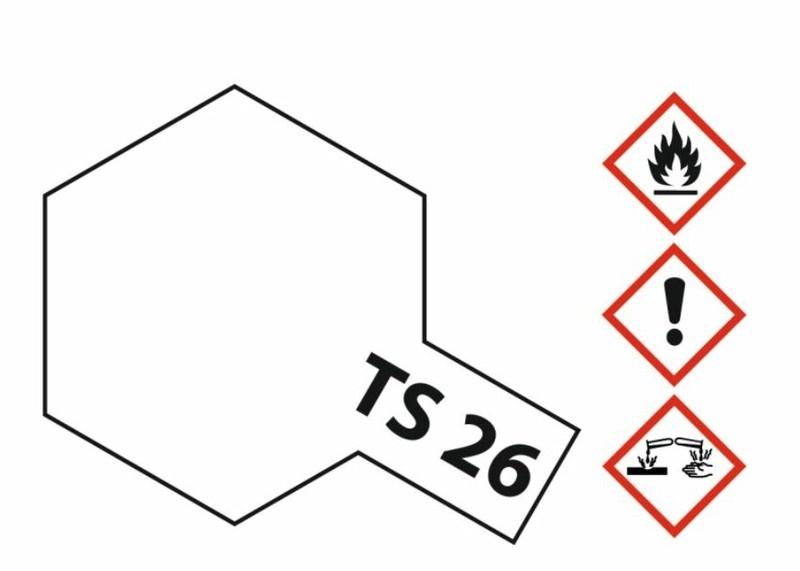 Tamiya Acryl-Sprühfarbe TS-26 Weiss glänzend 100ml
