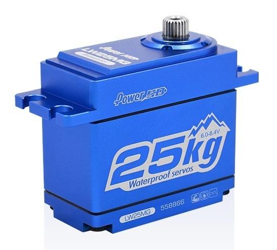 Power HD SERVO HD LW-25MG WATERPROOF BLAU ALU CASE