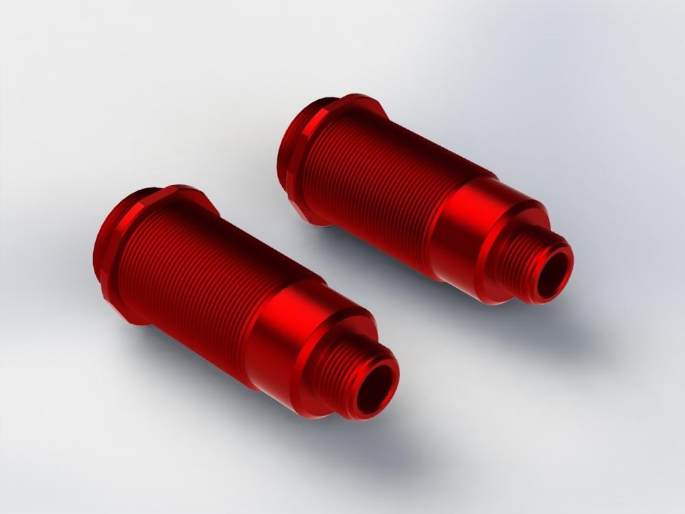 Auslauf Arrma RC Dämpfergehäuse Big Bore rot 16x52mm (2)