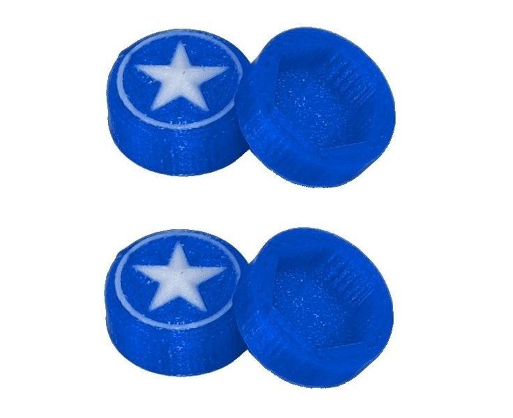 JS-Parts Radnaben-Abdeckung Star blau/weiss 1/8 17mm