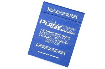 Pulsetec - Lithium Battery Safety Bag - Charging - Storage -