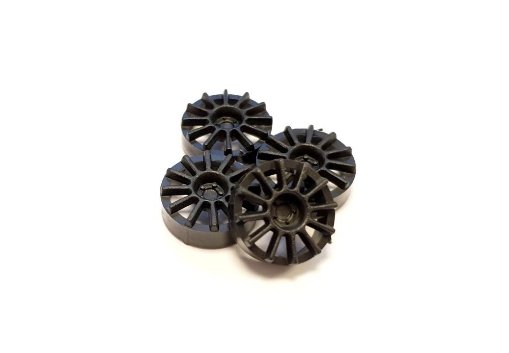 NSR Hubcap 17/Felgeneinsätze 12 Spokes Black (4)