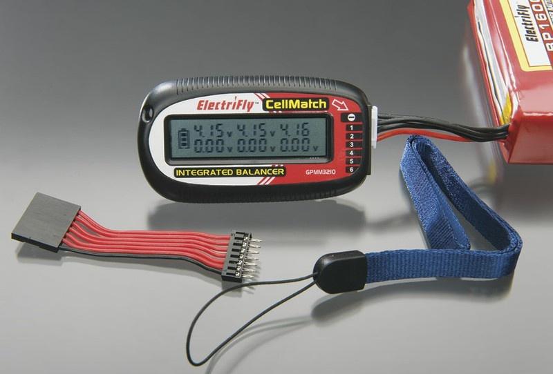 Electrifly CellMatch 6-Zellen LiPo/Ion Voltmeter + Balancer