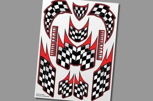 XXX Main Aufkleber - Racing Checkers