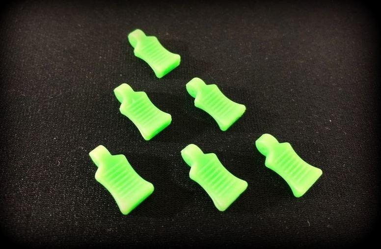 Absima Gummi Splint - Grip, neon-grün (6)
