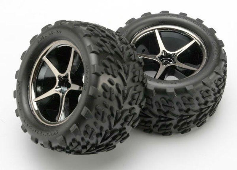 Traxxas Reifen auf Felgen montiert 1:16 E-Revo