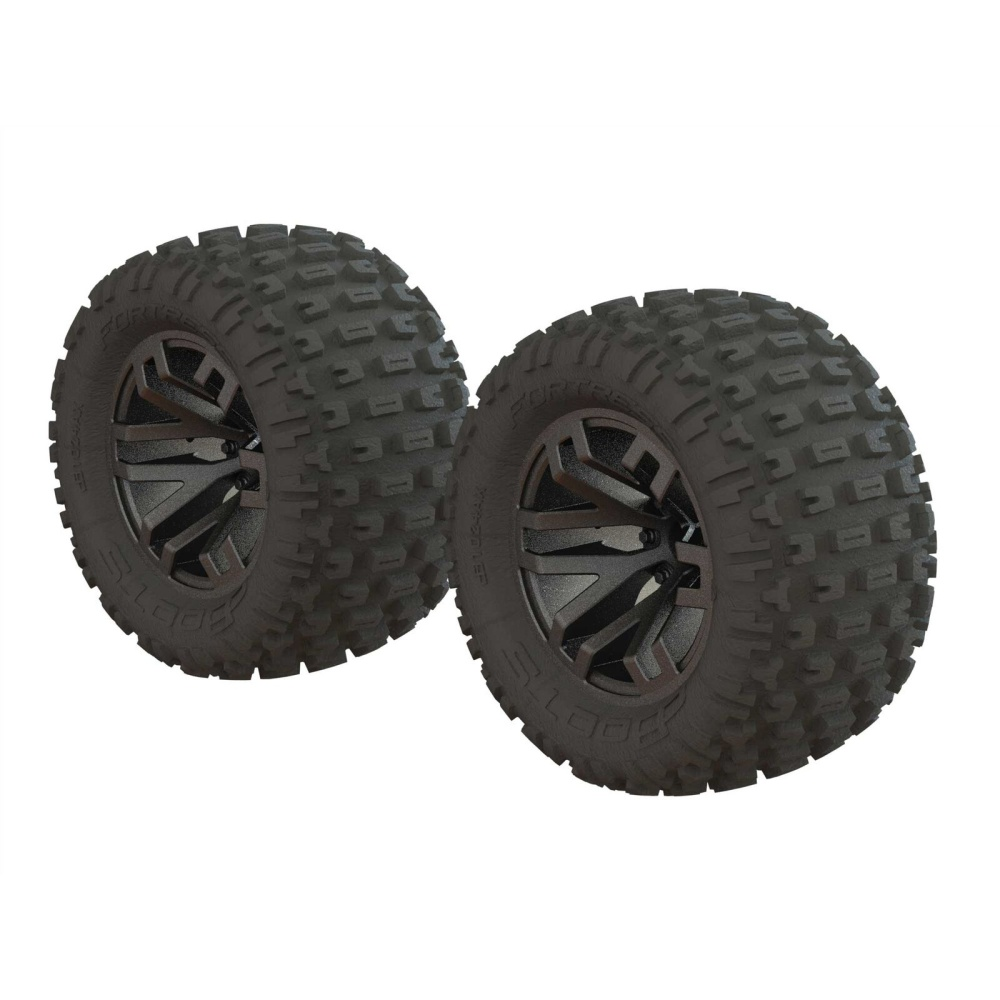 Arrma Dboots Fortress MT Tire Set Glued Gun Metal (2)