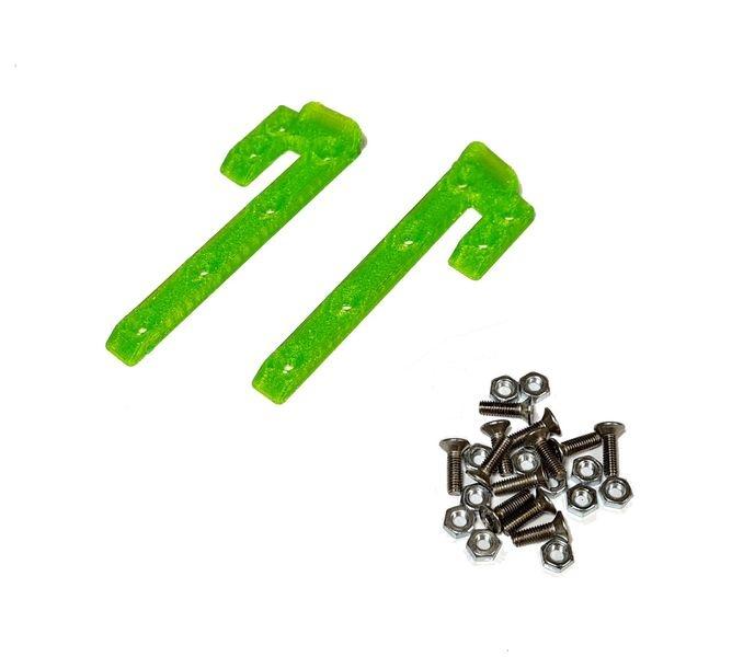 JS-Parts ultraflex Dachskid 70x20mm für 1/8 grün