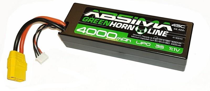 Absima LiPo Stick Pack 11.1V-45C 4000 Hardcase (XT90)