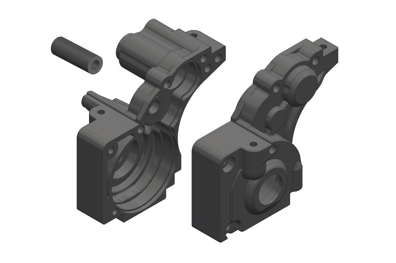 Team Corally Gearbox - L/R - Composite - 1 Set