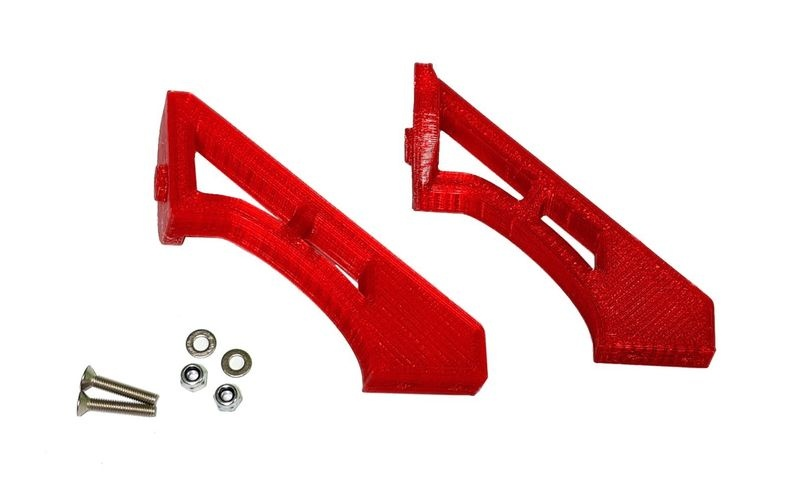 JS-Parts ultraflex Spoilerhalter für Tekno ET48 2.0 rot