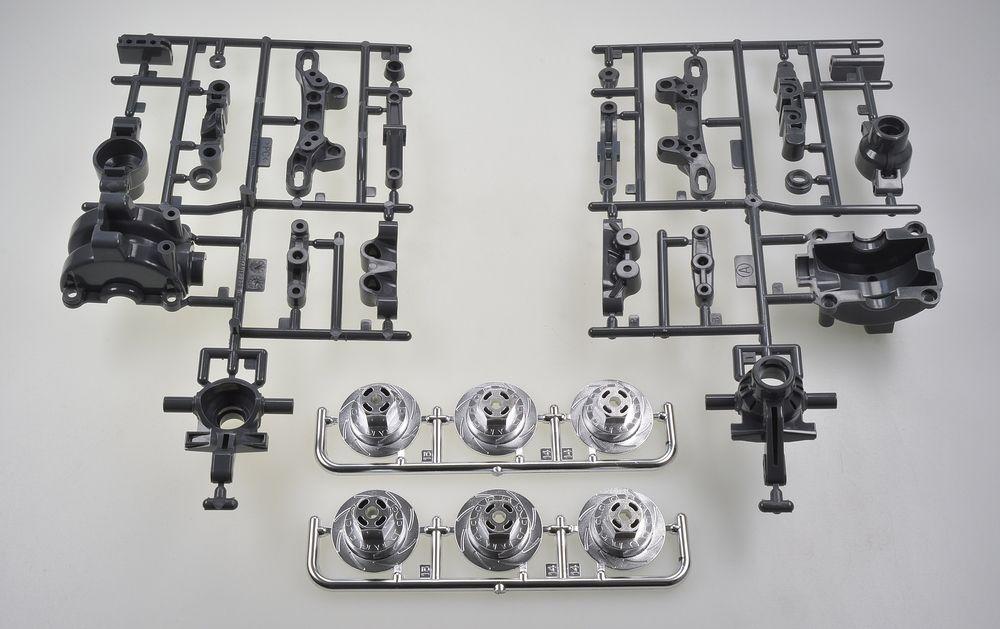 Tamiya TT-02/D A-Teile Achsschenkel vorne, 2 Stück