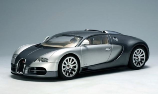 AutoArt Bugatti EB 16.4 Veyron (Genf 2003) (grey/silver)