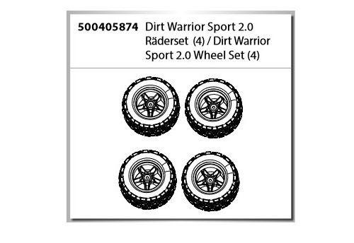 Carson Dirt Warrior Sport 2.0 Räderset (4)
