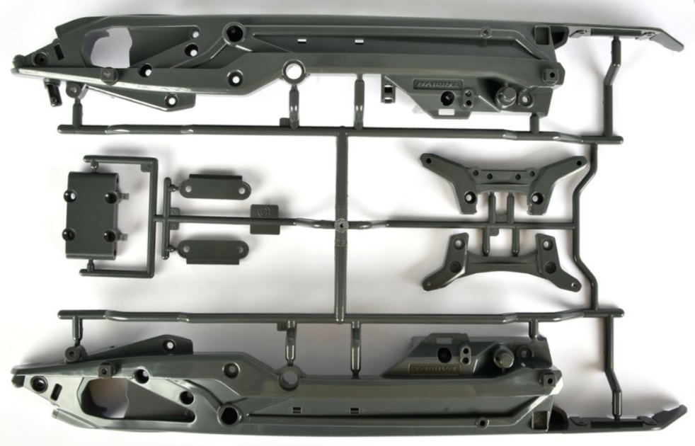 Tamiya DT03 C-Teile Chassis/Dämpferbrücken