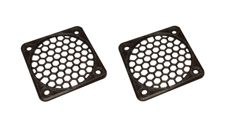 JS-Parts Lüftergitter 50mm / 2 Stück (Set) schwarz