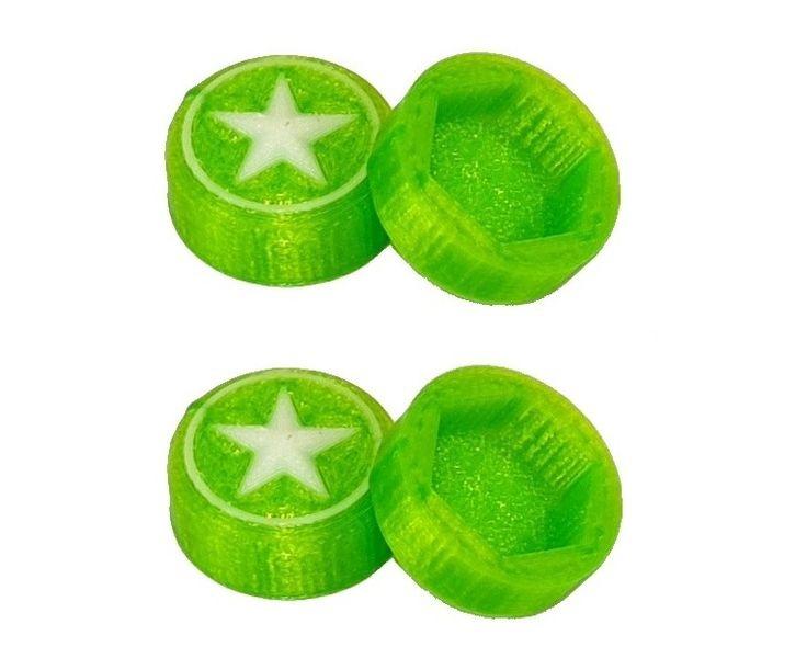 JS-Parts Radnaben-Abdeckung Star grün/weiss 1/8 17mm