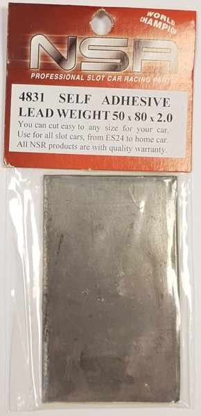 NSR Self adhesive weight 50x80x2mm /