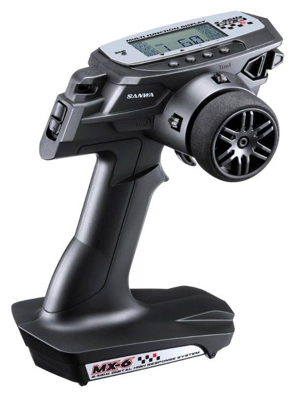 Sanwa MX-6 DRY 3-Kanal, 2.4GHz FH-E Fernsteuerung mit