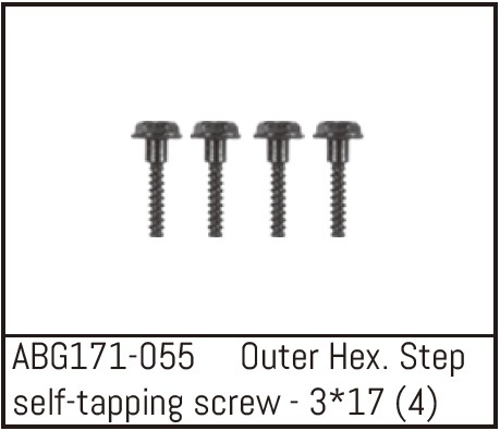 Absima Outer Hex. Step Self-Tapping Screw M3*17 (4)
