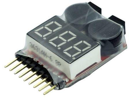 LiPo-Checker 1-8s - im Schrumpfschlauch - einstellbar