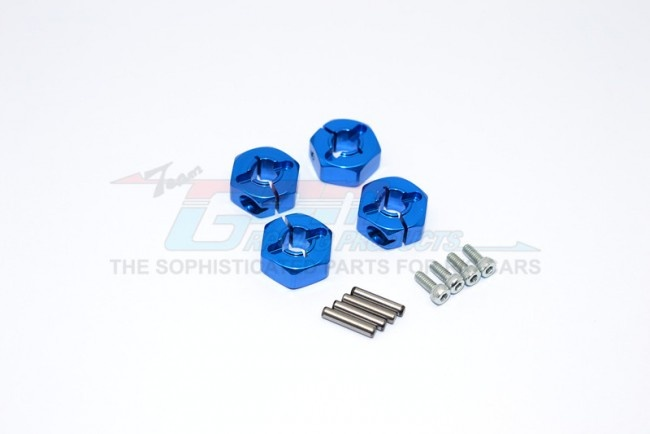 GPM alloy wheel hex drive adaptor with pins & screws - 4 PCS