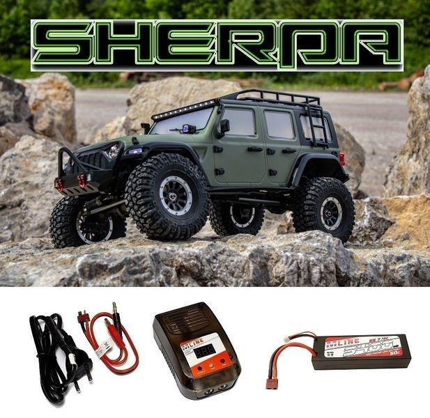 Absima 1:10 EP Crawler CR3.4 SHERPA RTR - olive