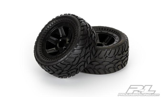 Pro-Line Dirt Hawg Offroad Reifen+Felgen verklebt 1:16, 2St.