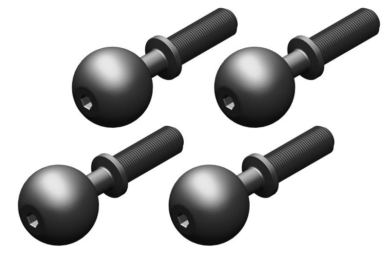 Team Corally Pivot Ball - Steel - 4 pcs