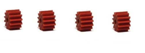 NSR AW Soft Plastic Pinions 13z (4) Red 6.75mm