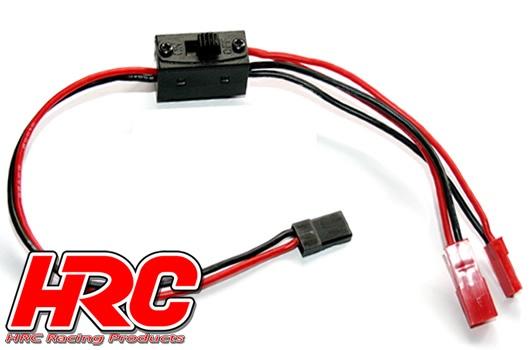 HRC Schalter - Ein/Aus - BEC/JR Stecker - mit Ladekabel