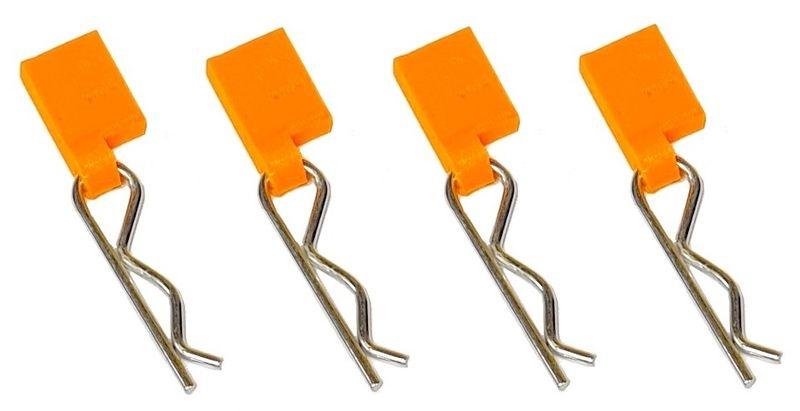 JS-Parts Pulltaps inkl. Karosplinte für 1/8 (4) orange