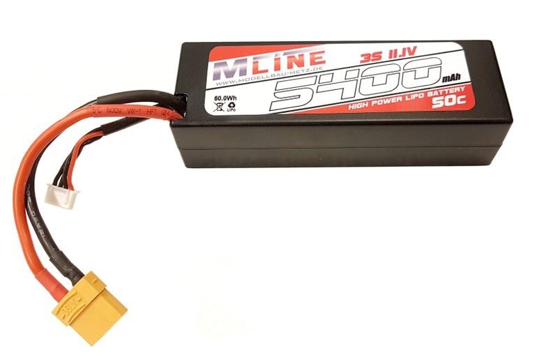 MLine High Power LiPo Akku 50C 3S 11.1V 5400mAh XT90